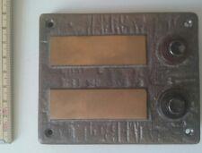 Klingeltaster Klingelknopf Klingelplatte, 11x9cm Bronze Aufputz NEU