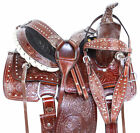 HORSE SADDLE WESTERN PLEASURE TRAIL ROPING BEAUTIFUL LEATHER TACK SET 12 13