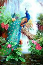 Full Drill Peacock Flower 5D Diamond Painting Embroidery Cross Stitch Home Decor