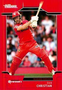 ✺New✺ 2020 2021 MELBOURNE RENEGADES BBL Cricket Card DAN CHRISTIAN Traders