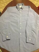 Brooks Brothers Light Blue All Cotton Long Sleeve Button Down Shirt 16-4 Mens