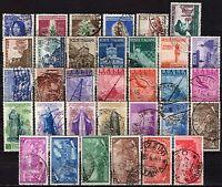#1405 - Repubblica - Lotto di 33 francobolli, 1946/51 - Usati