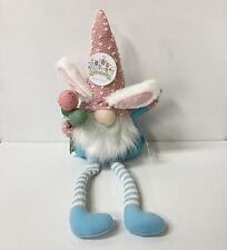 Easter Gnome Bunny Ears Shelf Sitter Doll Mantel Spring Daisy Decor Odellette