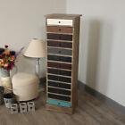 tallboy alto sottile in legno stile vintage cassettiera mobili per la casa