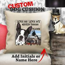 Personalised BOSTON TERRIER Dog Puppy Cushion Cover Her Love Gift Birthday