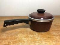 VINTAGE CLUB Aluminum Brown 1 1/2 Quart Sauce Pan with lid