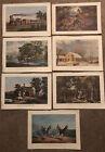 "Set of 7 Currier & Ives 1965 Calendar Art Prints 16"" x 11 1/4"""