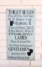 Toilet Rules Sign, Bathroom Rules, Toilet Rules, Bathroom Rules Sign, Funny Sign