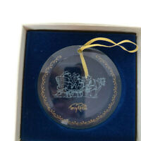 The Hadley Collection Terry Redlin Sleigh glass ornament Christmas tree