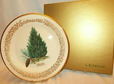 "Lenox 1982 Annual Christmas Commemorative Plate - Aleppo Pine 10-5/8"" - Box"