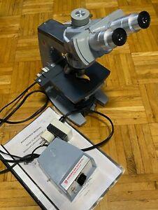 Mikroskop, American Optical Spencer mit Beleuchtung, äußerlich in gutem Zustand!