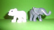 LEGO DUPLO Zoo kleiner Elefant,kleiner Eisbär  NEU