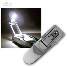 LED Leselampe mit Batterien, Leseleuchte mit BuchKlemme, Buchleuchte Buchlampe