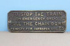 Brass Railway Plaque #1