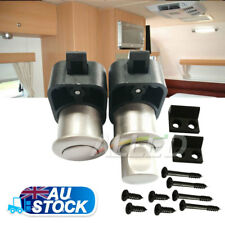 2xPush Button Cabinet Door Latch Knob Drawer Cupboard Lock RV Caravan Motorhome