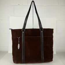 Mobile Edge Laptop Tote Bag Suede Brown Computer Bag Special Edition