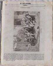 ALBUM DI ROMA 1842 DECAMPS SCUOLA TURCA DINO COMPAGNI