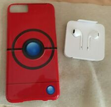 POKEMON-POKIBALL/POKEBALL iPhone 6S AND 6S PLUS  CASE AND NEW EARPODS