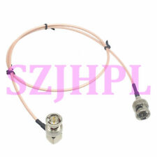 cable BNC plug ~ 90° male 75ohm 1080P 3G HD mini SDI pigtail Camera AV RG179 2FT
