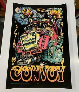 Vintage 70s ORIGINAL black light velvet poster CONVOY by Western Graphics