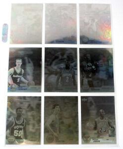 1992-93 Upper Deck Award Winner Holograms Basketball Set in Sheet (9) 2 Jordans