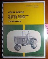John Deere 3010 Row-Crop & Standard Gasoline Tractor Owner Operator Manual 1/61
