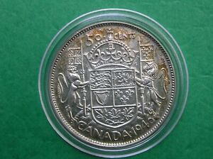 1946 Canada 50 cent half dollar in capsule FREE SHIPPING