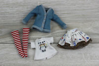 Blythe outfit doll skirt dress accesories clothes shirt white