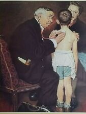 "Norman Rockwell Vintage Poster Print 17"" x 22"" doctor checkup K"