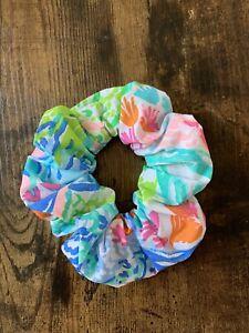 Lilly Pulitzer Scrunchie - Handmade - Mermaid Cove PB