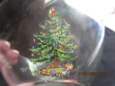 """SPODE CHRISTMAS TREE Clear Glass 5.5"""" INDIVIDUAL SALAD BOWL,Excellent!!"""