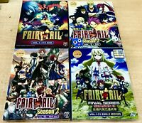 Fairy Tail (Season 1 - 9: VOL.1 - 330 End + 2 Movie) ~ All Region ~ USA DHL EXP