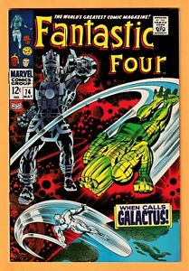 FANTASTIC FOUR #74 & #75 (2 BOOKS) ** SILVER SURFER & GALACTUS COVER & STORY **