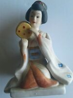 "Vintage Oriental Asian Woman / Porcelain Ceramic Statue Figurine Taiwan 5""x4"""