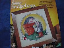 Margaret SHERRY's Happy hérissons jouant dans pots cross stitch chart