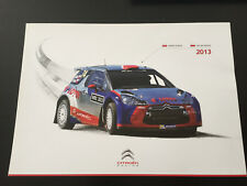 CP POSTCARD CARTOLINA CITROEN RACING DS3 2013 KUBICA BARAN RALLYE CATALOGNE