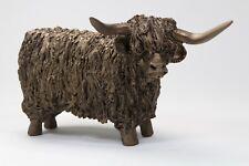 Highland Bull Bronze Standing Small - Veronica Ballan VB019 - Superb Gift - New