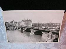 Vintage Postcard Showing London Bridge with Double Decker Buses