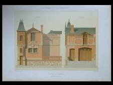 VILLERS SUR MER, ECURIE - 1881 - GRANDE LITHOGRAPHIE - MACE