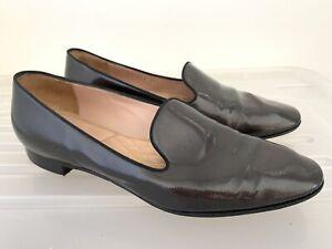 GIORGIO ARMANI Leather Flats 37.5 (6.5) #17197