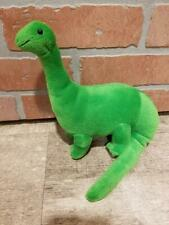 "Vintage Dakin Green Brontosaurus Dinosaur Dino Stuffed Animal Plush 9.5"" x 7"""