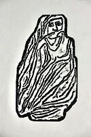 "Gustav Heinrich Wolff (1886-1934) Holzschnitt, Nachlass-Stempel, ""Marokkanerin"""