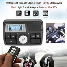 12V BLUETOOTH IMPERMEABILE DA MOTO AUDIO FM MP3 RADIO STEREO ALTOPARLANTI USB SD