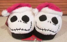 NIGHTMARE BEFORE CHRISTMAS SANTA JACK  plush SLIPPERS KIDS YOUTH SZ XL 4-5