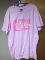 Vintage West Virginia T-shirt Large Pink Made in USA Union 50/50 Cotton Blend WV