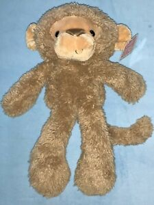 Gund Fuzzy Monkey Soft Stuffed Toy Brown Tan 320599