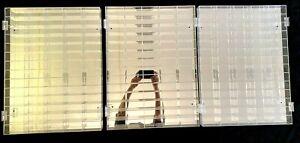 3 Clear Acrylic 70 Car (210 total) 1:64 Diecast Display Cases w/ Mirror Backs