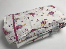 Laura Ashley Fun Fairies Fairy Princess One Queen Flat Sheet Bedding 100% Cotton