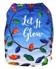 Christmas Lights Holiday Winter One Size Pocket Cloth Diaper Ships From Usa