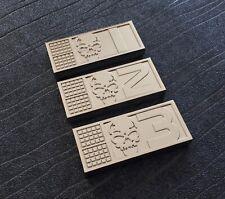 Rogue Trooper Biochips set of 3 (Helm, Gunnar and Bagman) 70mm x 30mm x 7mm